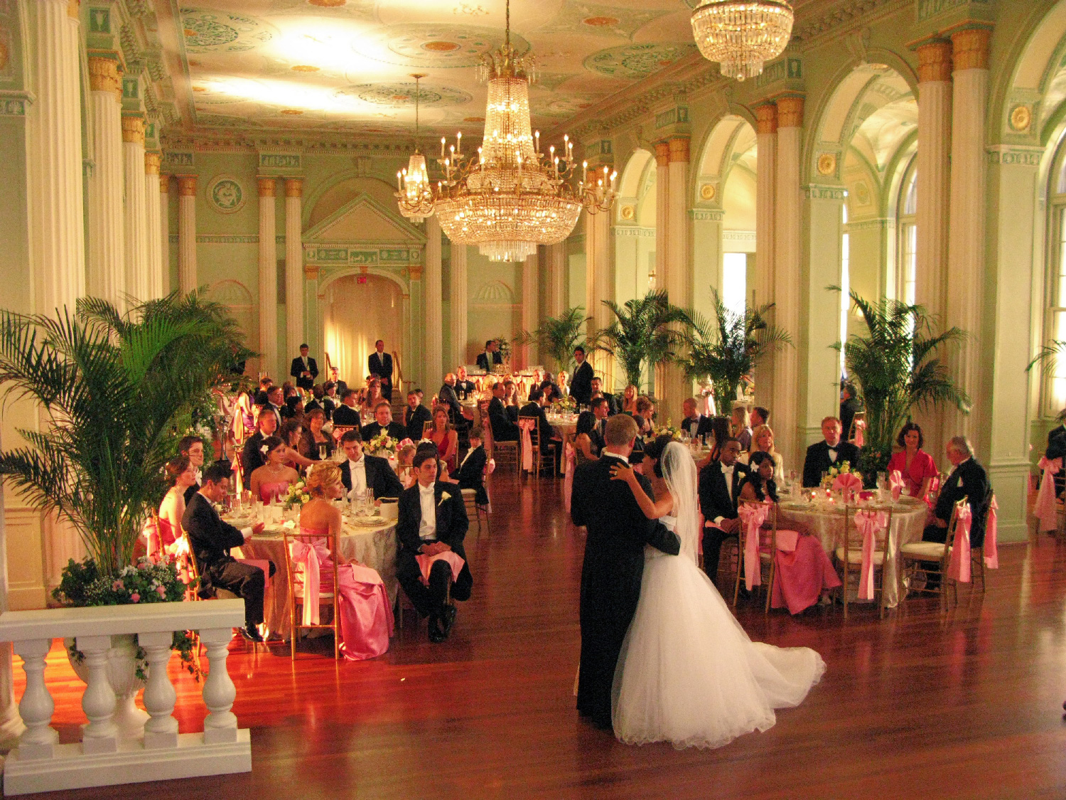 Wedding banquet at the Biltmore in Atlanta.