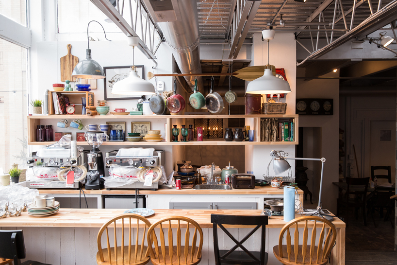 """We created this sunny, inviting family kitchen over the ruin of a former short order grill. It was the nucleus of the """"Haus"""", free coffee by day, hopping bar by night."""