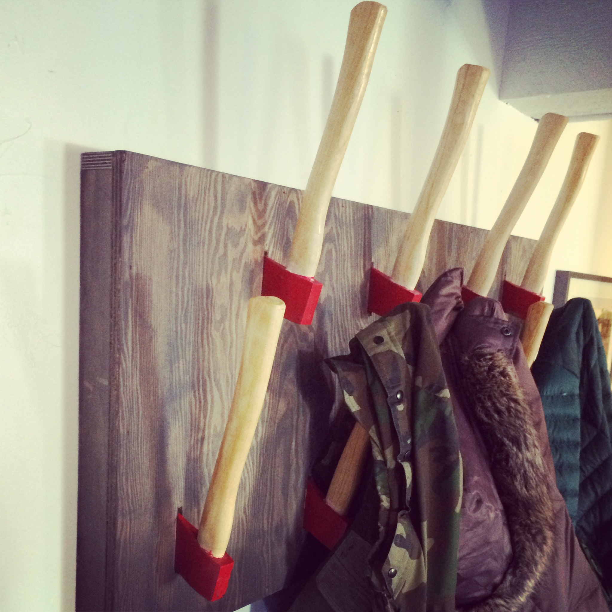 Another view of our hatchet racks.   Photo: Joe Anthony