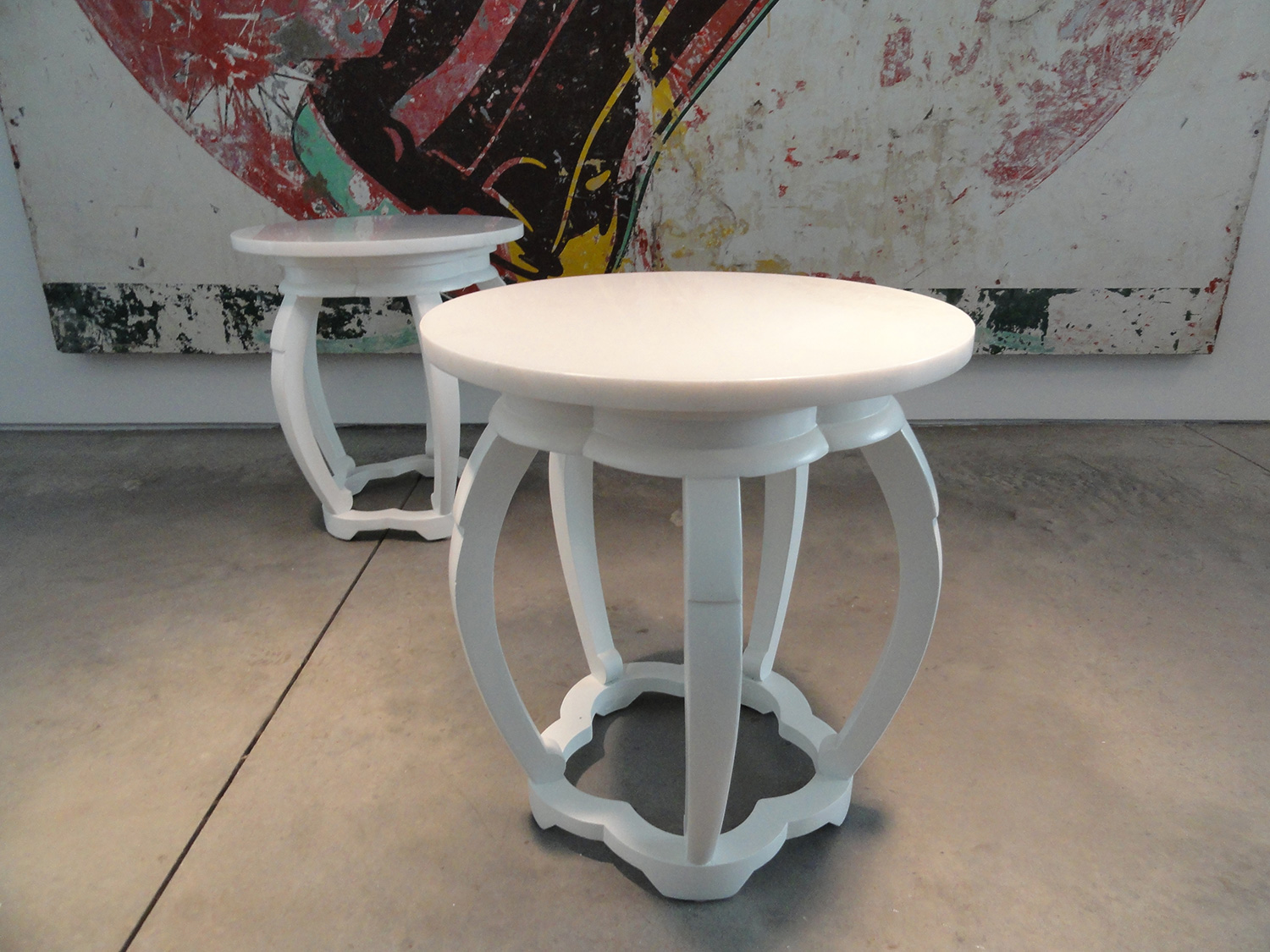 Opium side tables. I call them that because of the poppy-bud silhouette.