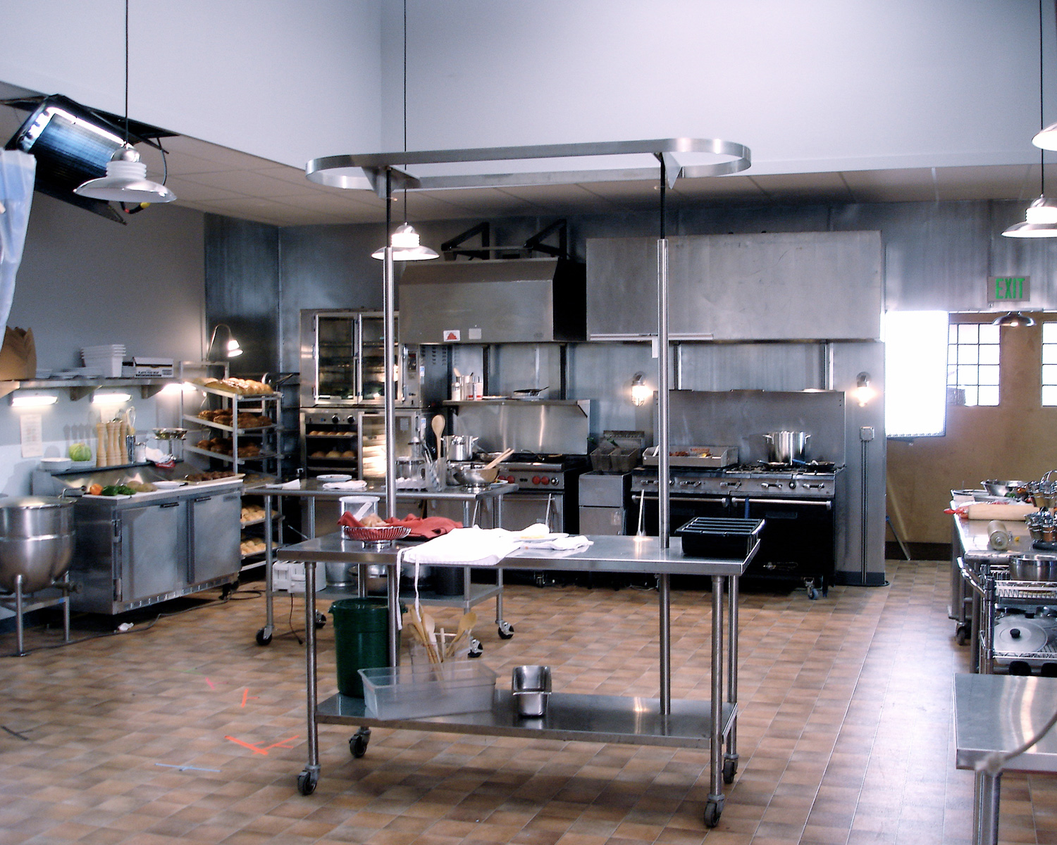Another view of the Lava Springs Kitchen stage set.