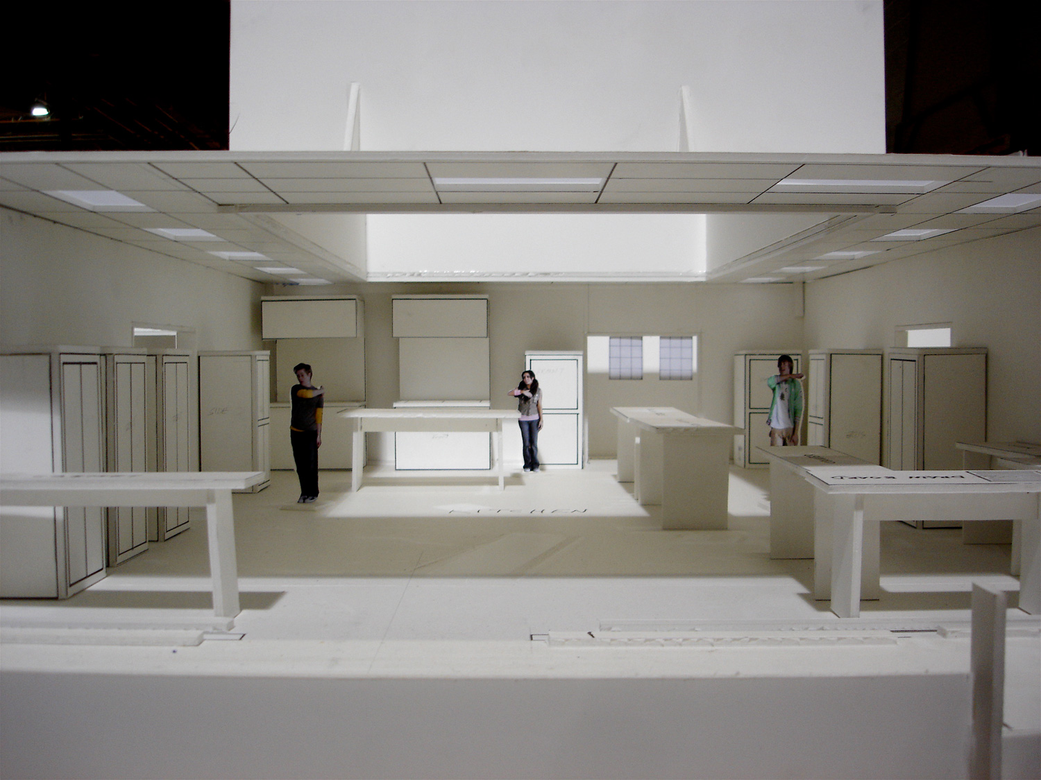Another view of the Lava Springs kitchen stage set model for the choreographers.