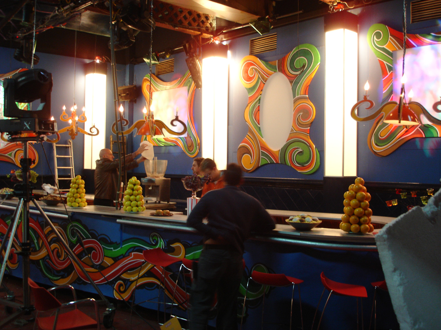 Another view of the Dancing Cat teen night club in Barcelona.
