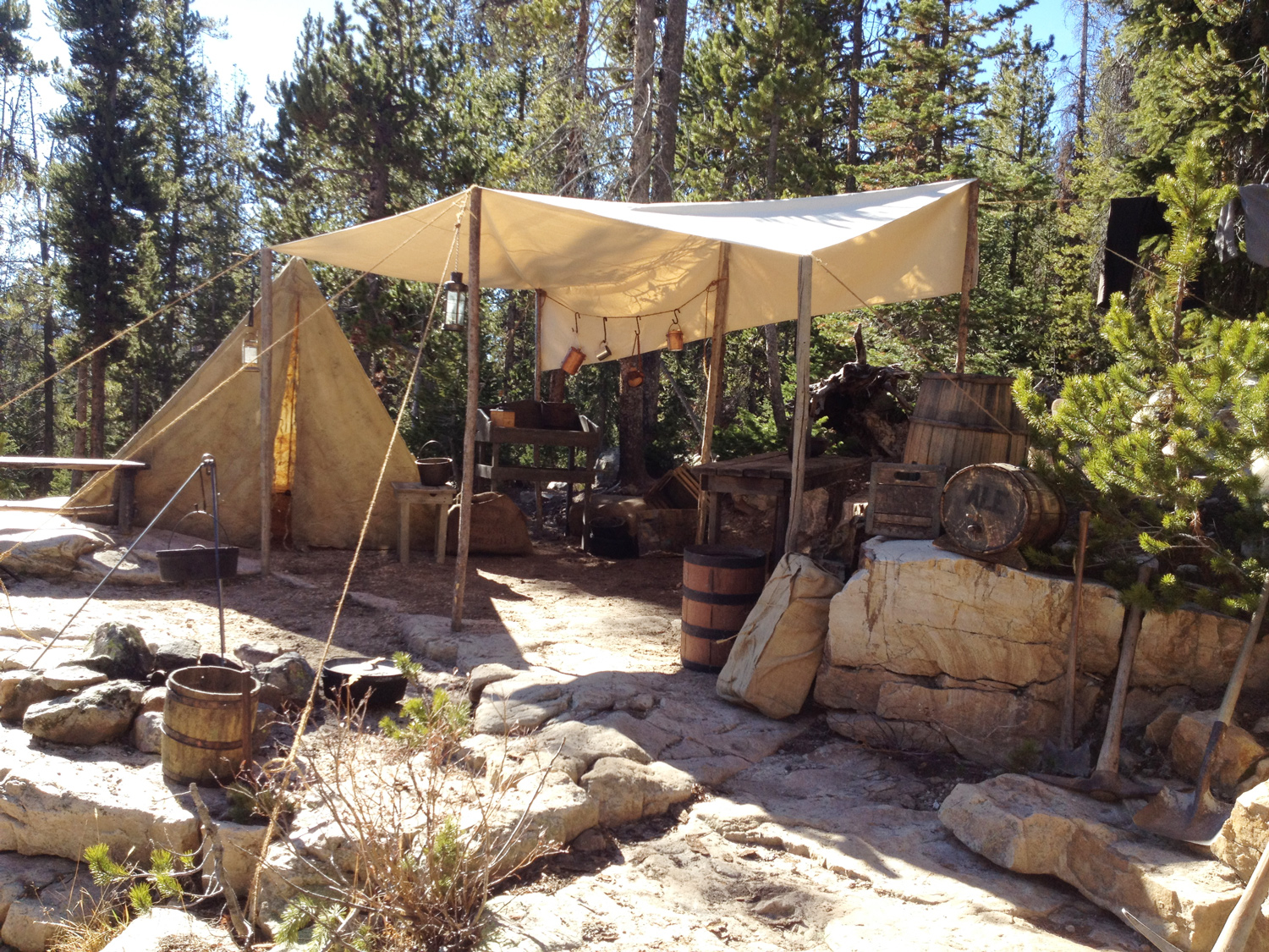 A fine example of the dozens and dozens of encampments we built all over northern Utah.