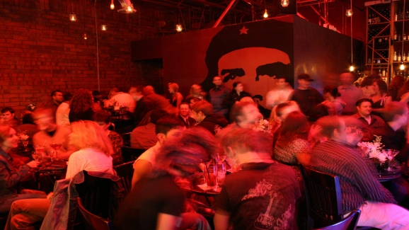 A typically busy night at the Red Door.