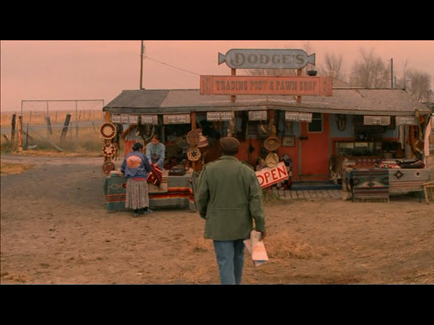 The Edge of America is an early 1980's period piece based on a true story, set on a fictionalized southwest Indian reservation. Here is Dodge's reservation store/trading post.