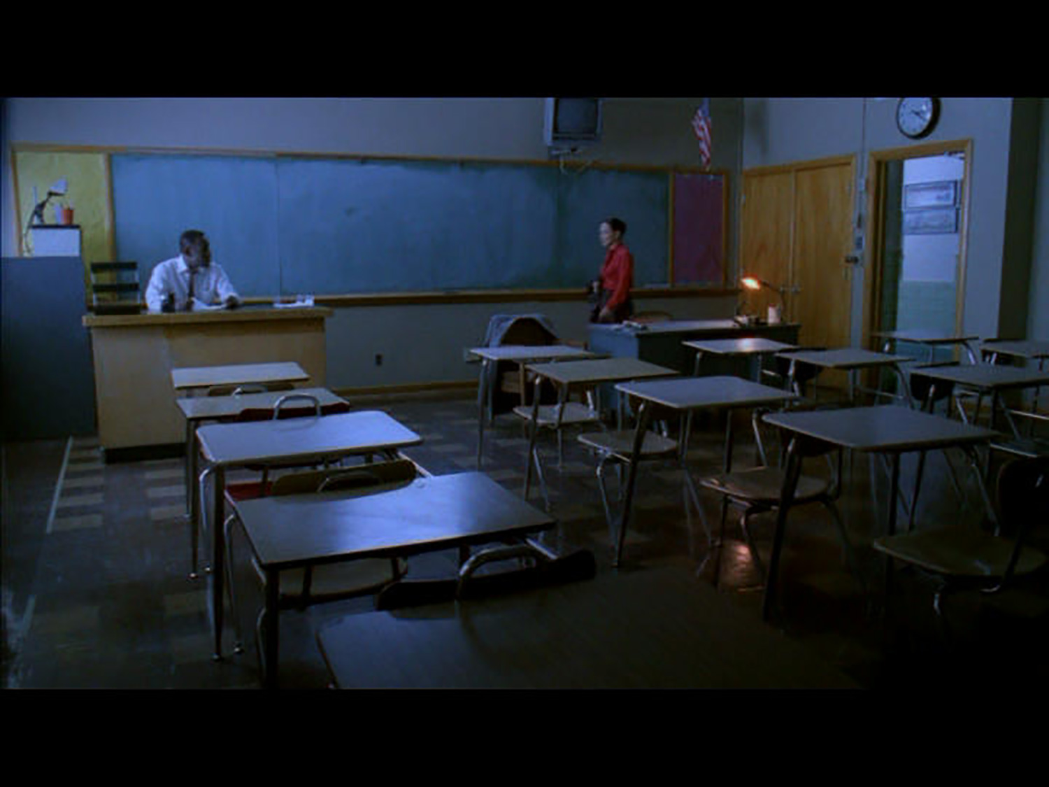 Mr. Williams (James McDaniel) English classroom on the Three Nations reservation.