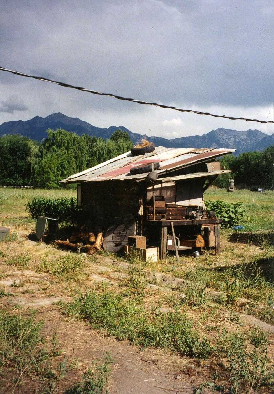 An adjoining shack build on the edge of Jake's (Jim Mapp) vegetable garden.