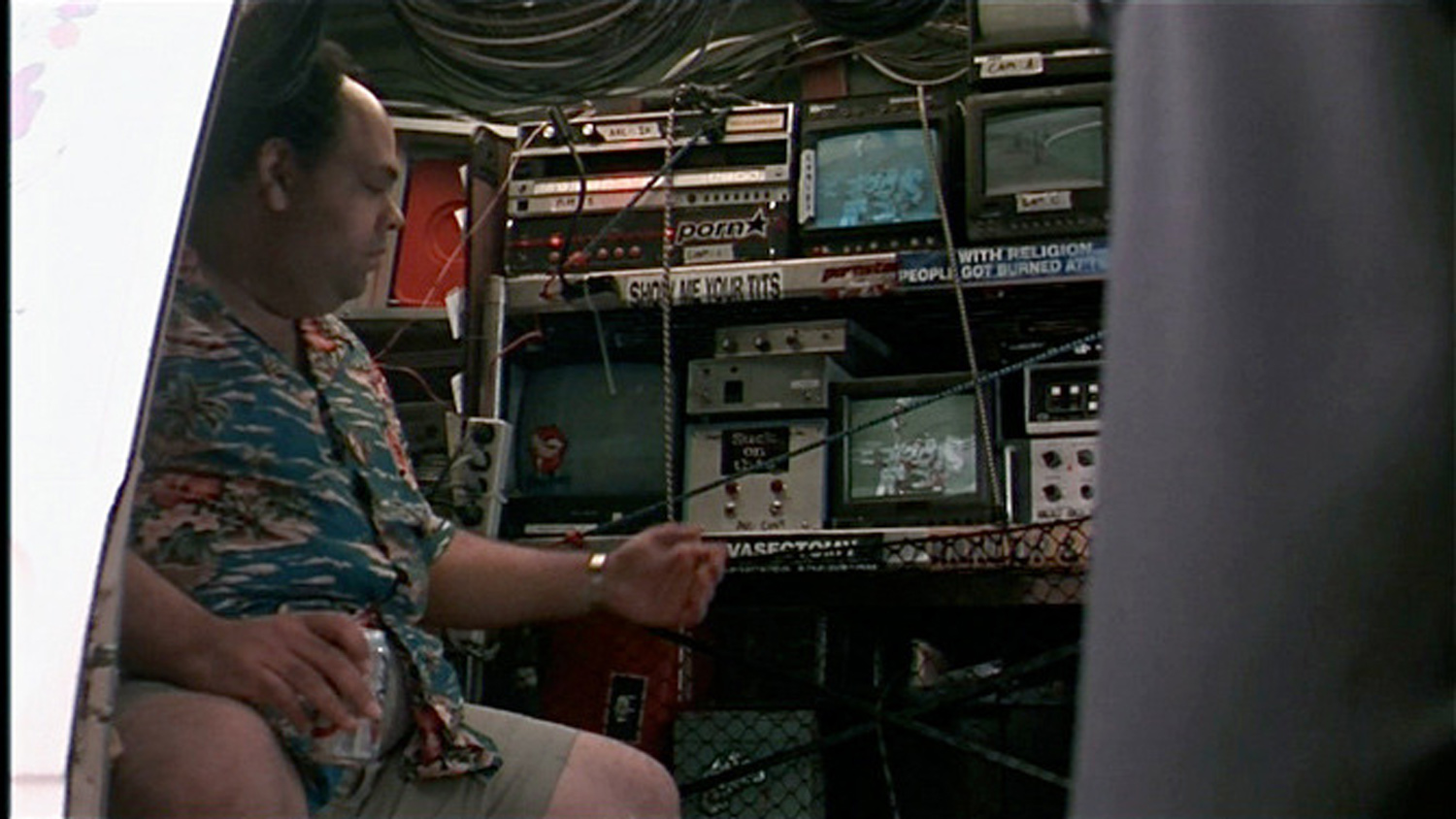 Another view of Ed (Frank Gerrish) in his tricked out surveilance van.