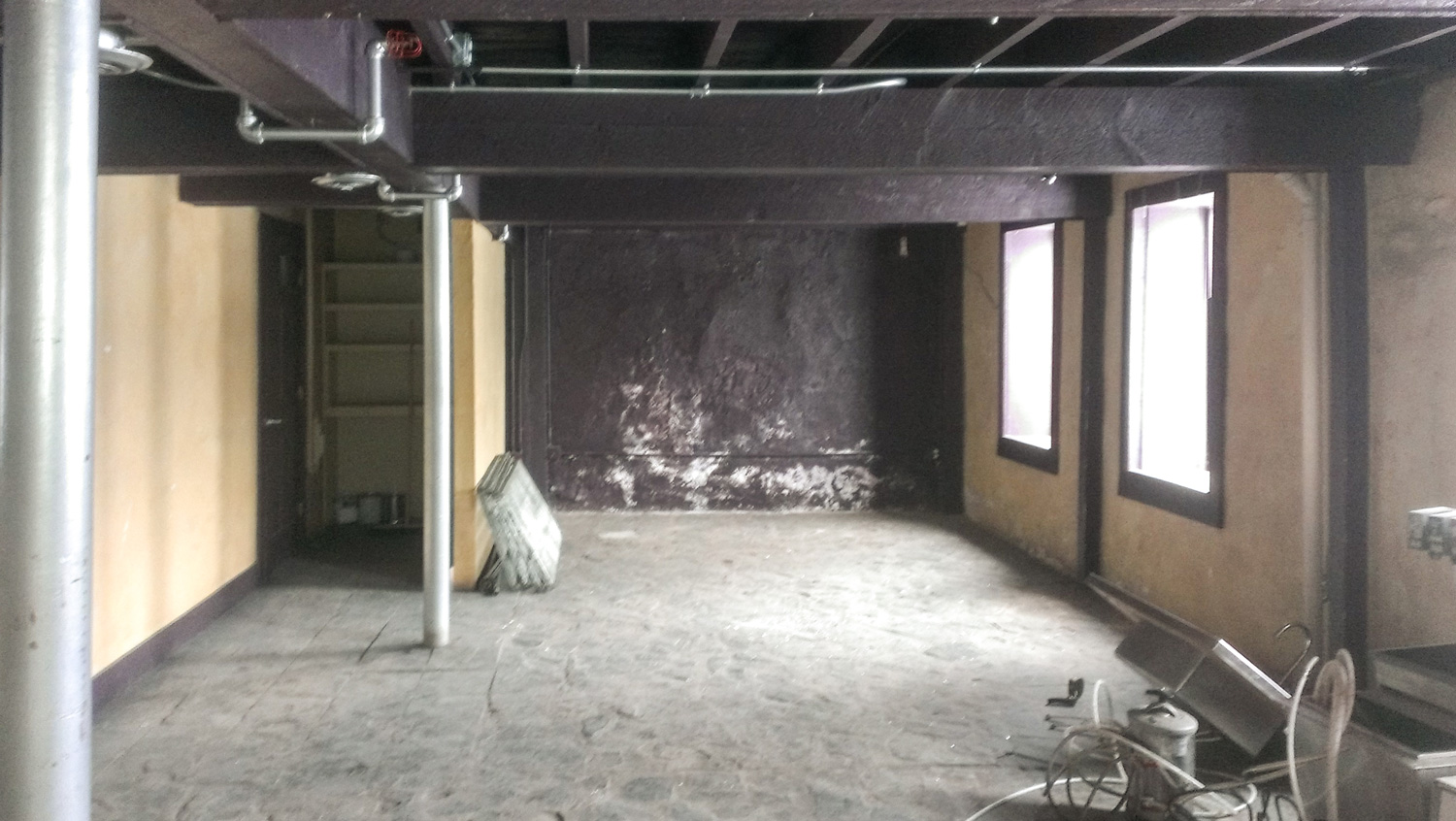 This was what became the downstairs drawing room.
