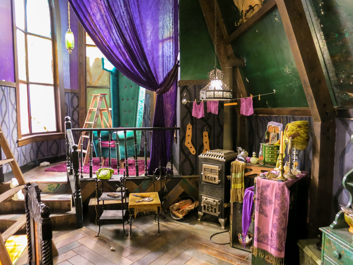 A view of Maleficent's dressing area and her elevated throne. Domesticity is not among her considerable powers.