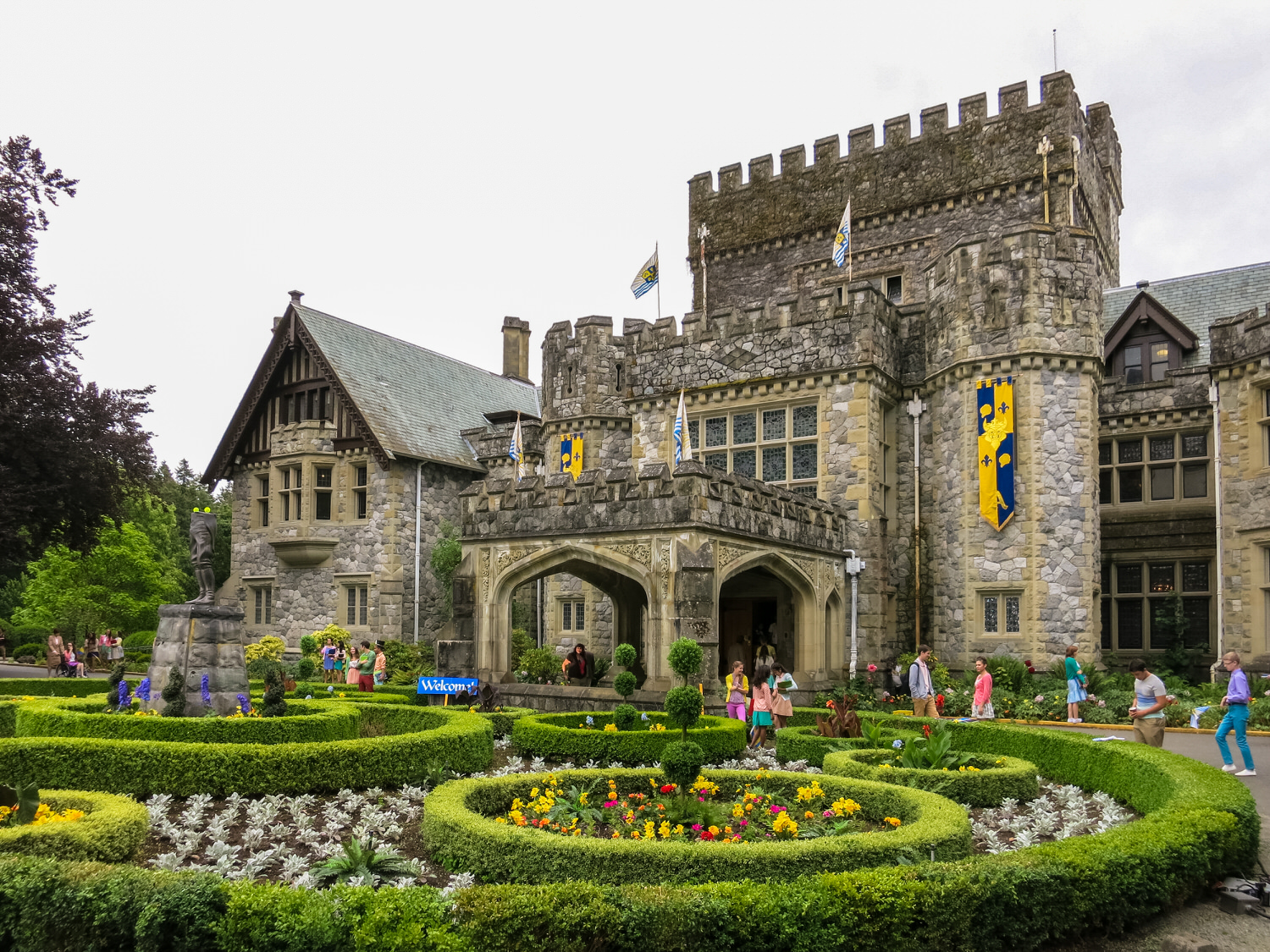 The four children from the Isle of the Lost leave the the slummy island of their youth and arrive at the impossibly stately and regal Auradon prep school. Here we augmented the already gorgeous Hatley Castle.