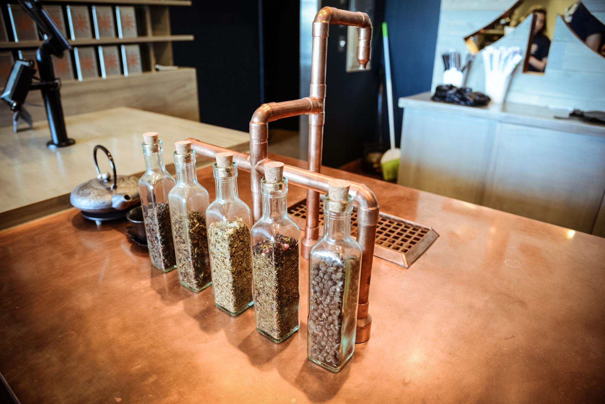 Our custom hot water system for the variety of teas on offer at Riced.