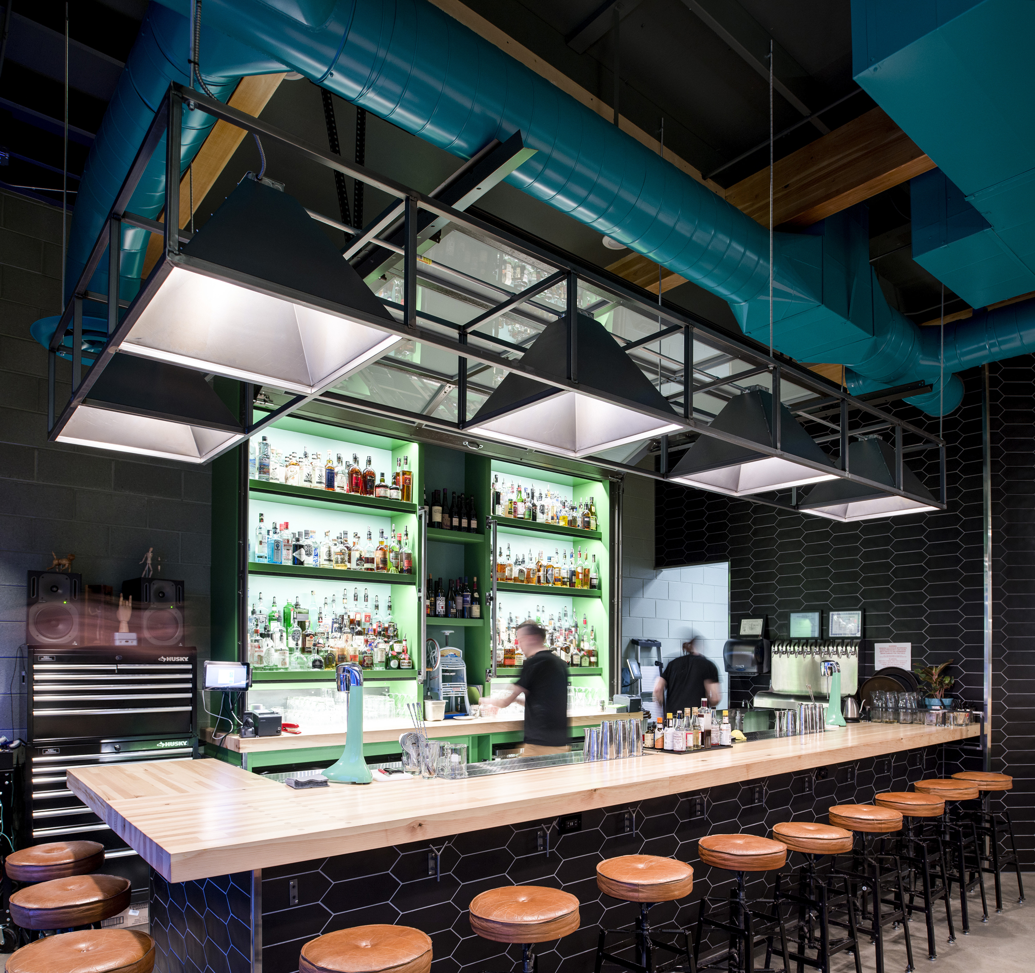 Water Witch is the vision of three giants of the Salt Lake City bar and culture scene - Sean Neves, Scott Gardener and Matt Pfohl. I was lucky enough to be asked to design their 800 sq foot bar, Water Witch in the up-and-coming Central 9th neighborhood.