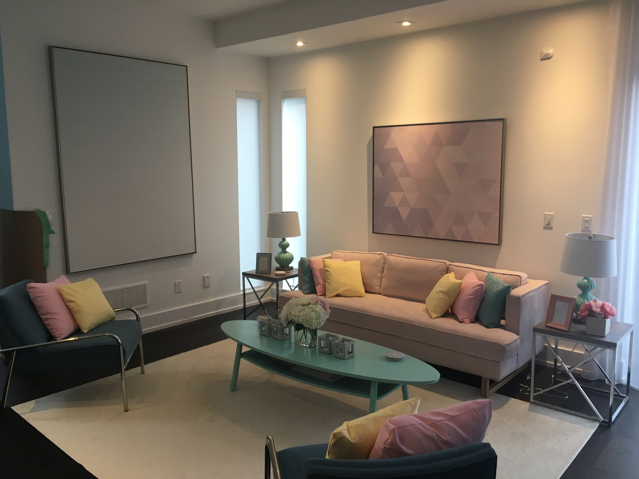 Even the domestic interiors reflect a ruthlessly enforced pastel palette. Everything in it's perfect order, the good people of Seabrook only look forward, never back. The home of the young heroine Addison (Meg Donnelly) reflects that comfortable conformity.