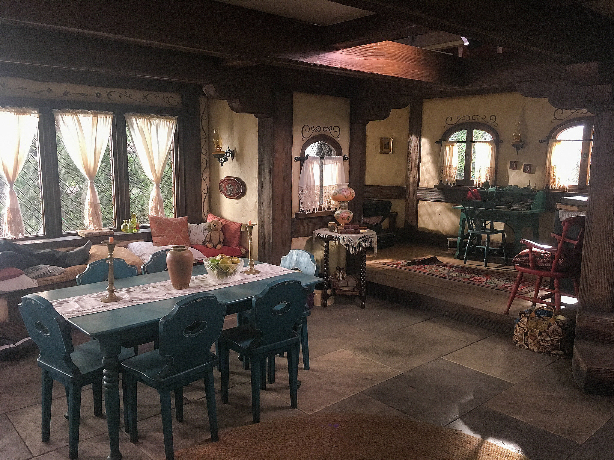 The interior of Audrey's (Sarah Jeffrey) forest hideout in her mother's former home.