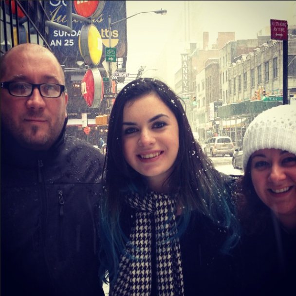 Ian and Athena from PopRiot with Erica Ashley in NYC!