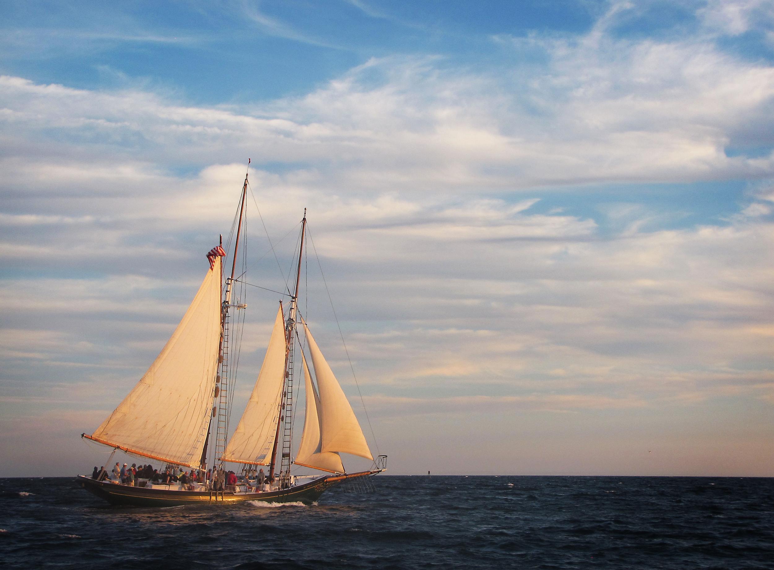 Schooner Thomas Lannon - Gloucester Harbor