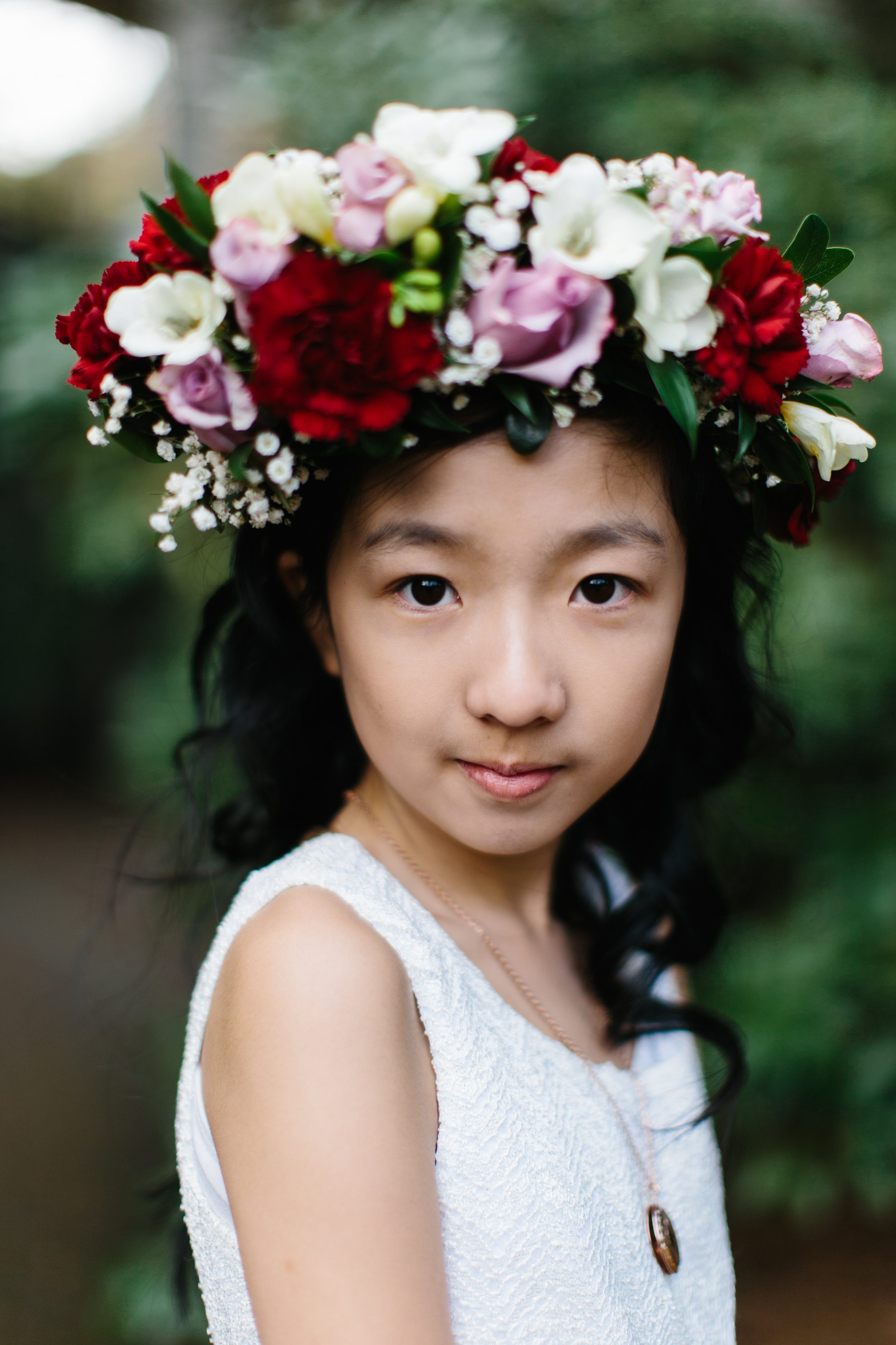 Flower Crown for Flower girl by Abbotsford Wedding Florist, Floral Design by Lili
