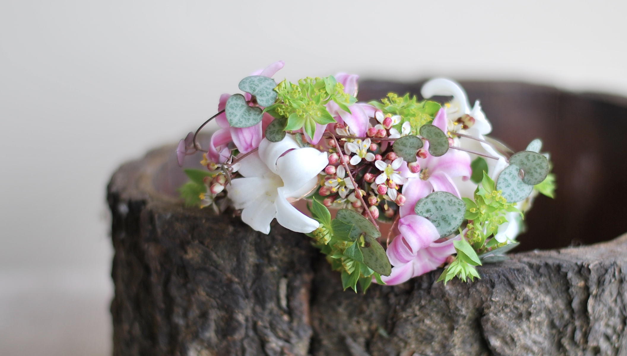 Floral Jewellery/Corsage for weddings, Birthdays,Anniversary and or Mother's day gift and also for Graduation prom by Floral Design by Lili ,  Vancouver/ Fraser Valley Florist.