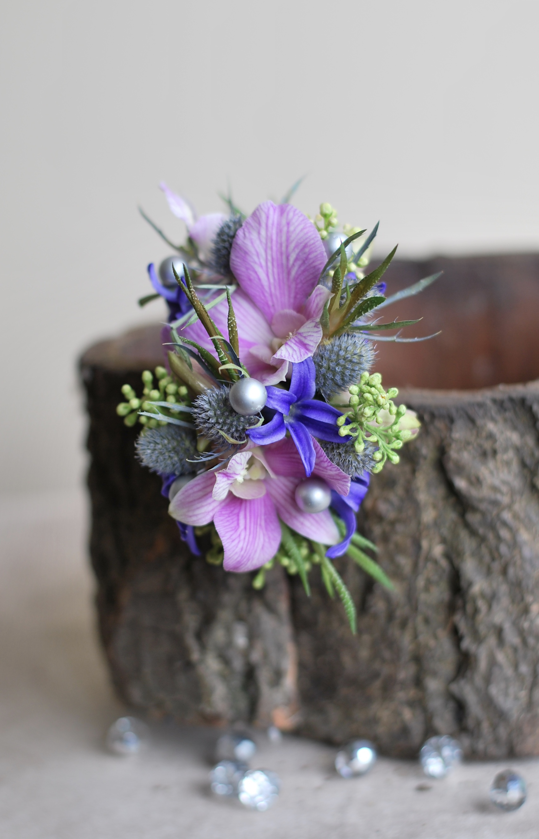 Floral Jewellery/Corsage for weddings, Birthdays,Anniversary and or Mother's day gift and also for Graduation prom by Floral Design by Lili ,  Fraser Valley Florist .
