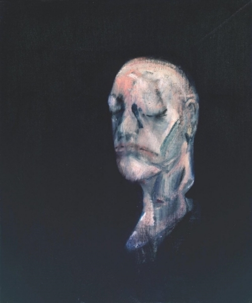 Francis Bacon 'Study for Portrait II (after the Life Mask of William Blake)', 1955