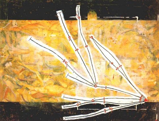 M. Duchamp, Réseaux des Stoppages  , 1914