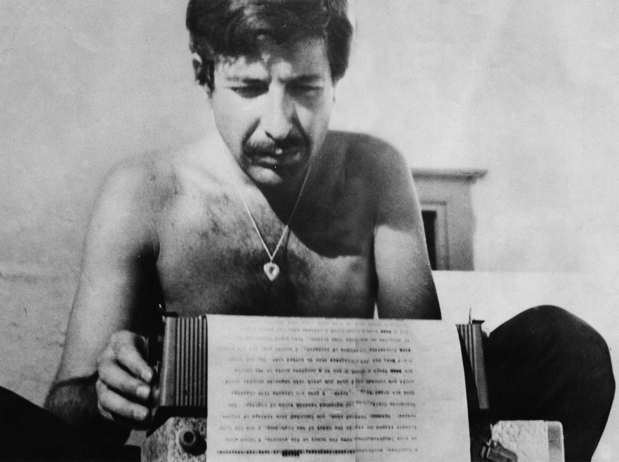 Leonard Cohen em Hidra. Anos 60.