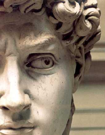 David, pormenor do rosto