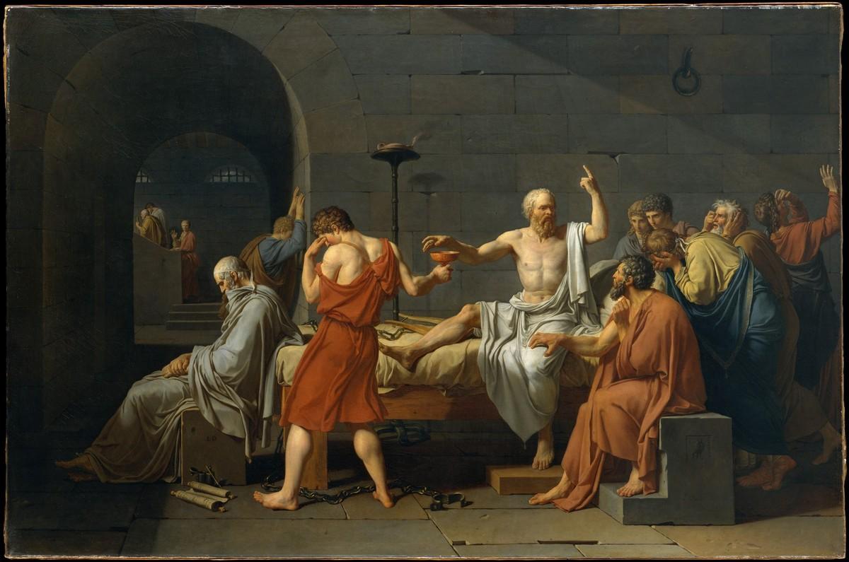 A Morte de Sócrates de Jacques-Louis David, 1787