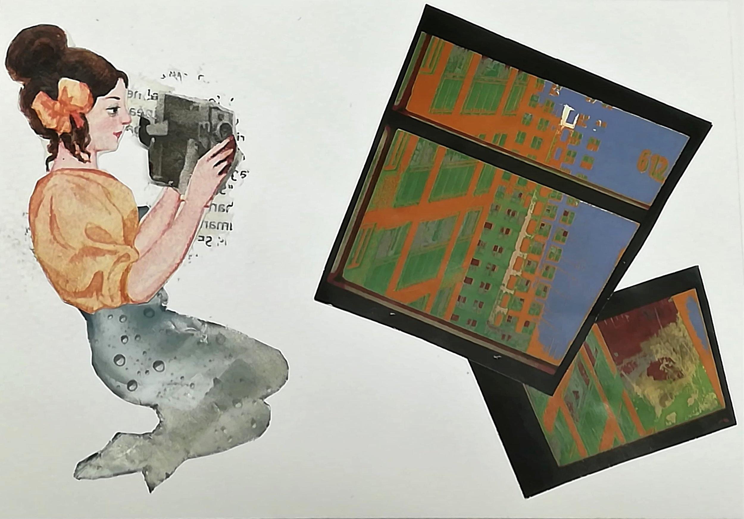 """Colagem por João Coles, """"Die seele fliegt immer hinterher"""""""
