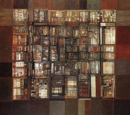 La bibliothèque en feu, Vieira da Silva