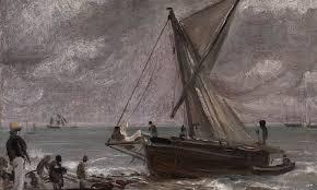Beaching a Boat ,  Brighton , John Constable