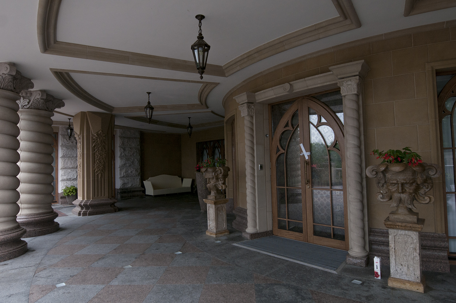The sealed front door ofIanoukovitch Mansion's main residence