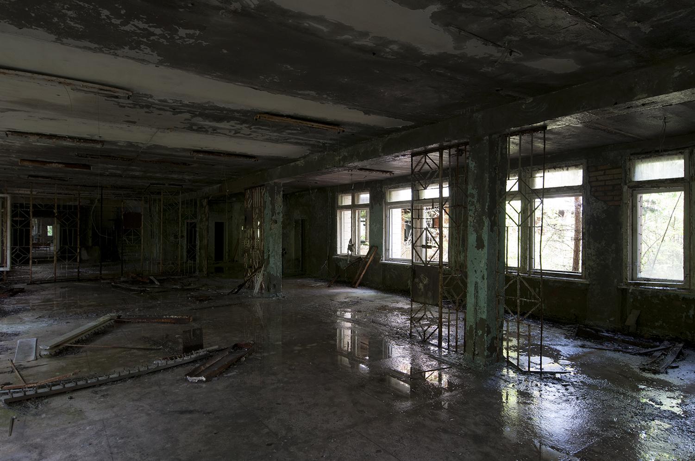 The main hall of Pypiat school