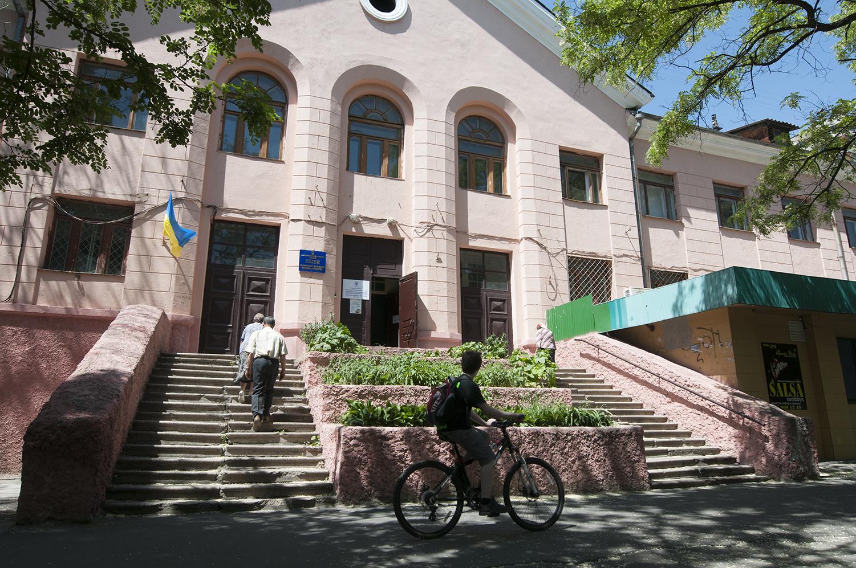 Mariupol University's polling station