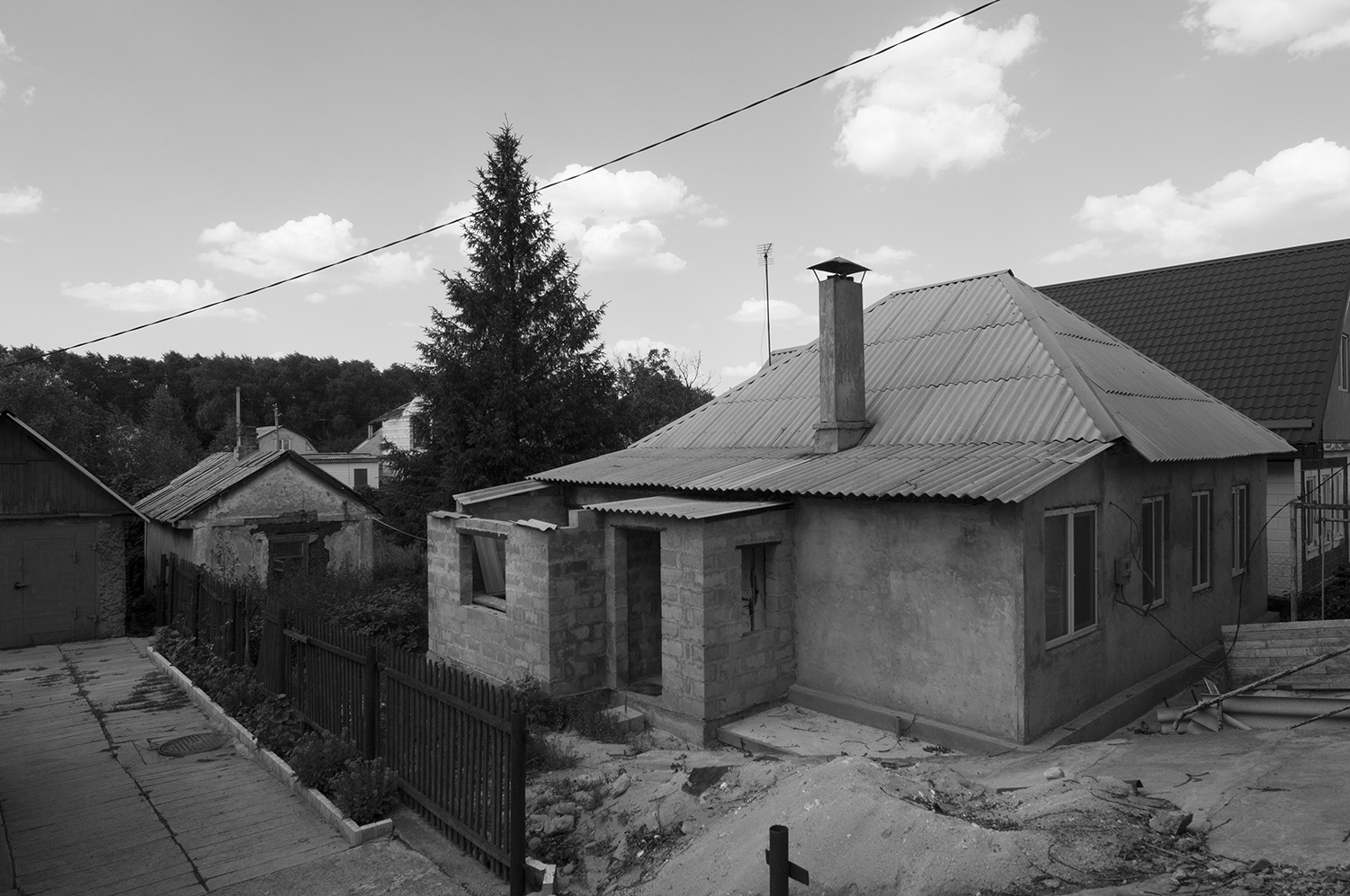 Housing located less than a kilometer away from Donetsk airport