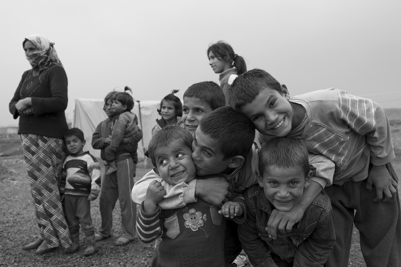 Syrian refugees near Suruç