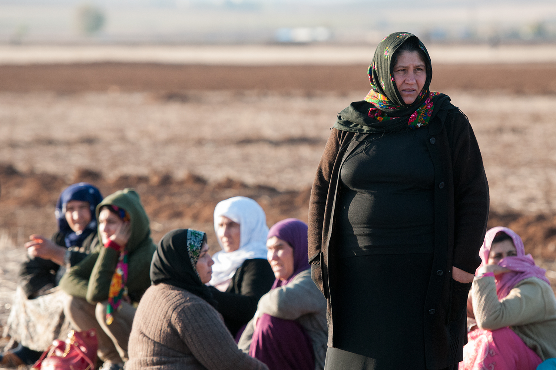 Kurdish woman in Çaykara druing Women's Day