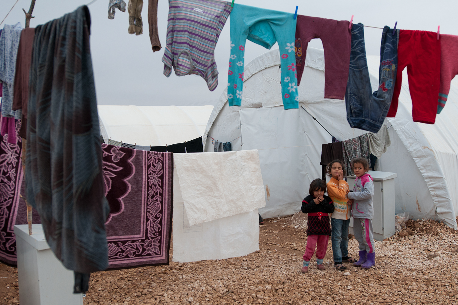 Syrian children in a refugee camp financed and managed by the Turkish government