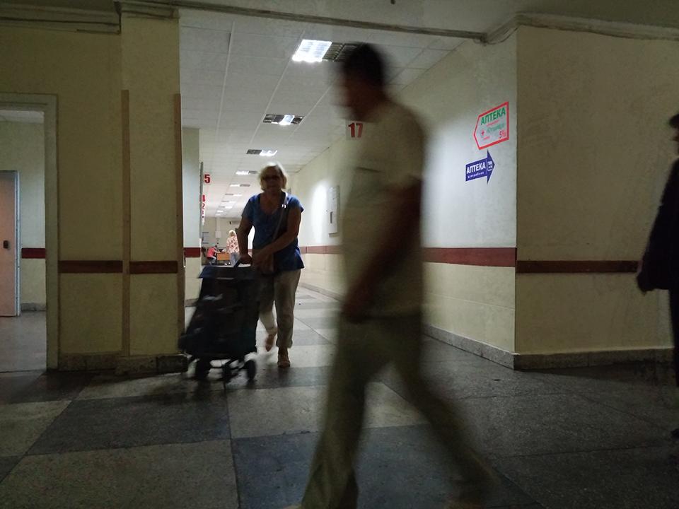 Corridors of the Emergency Hospital.
