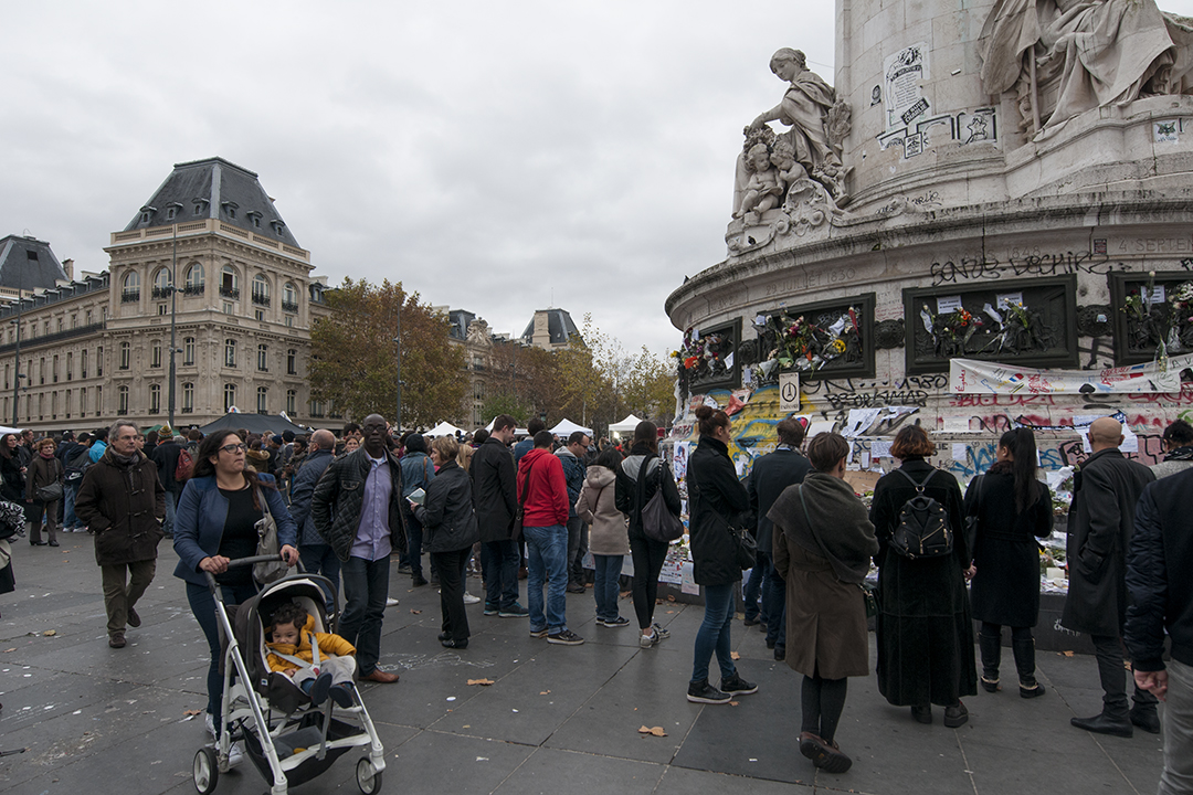 People of all origins at Place de la République