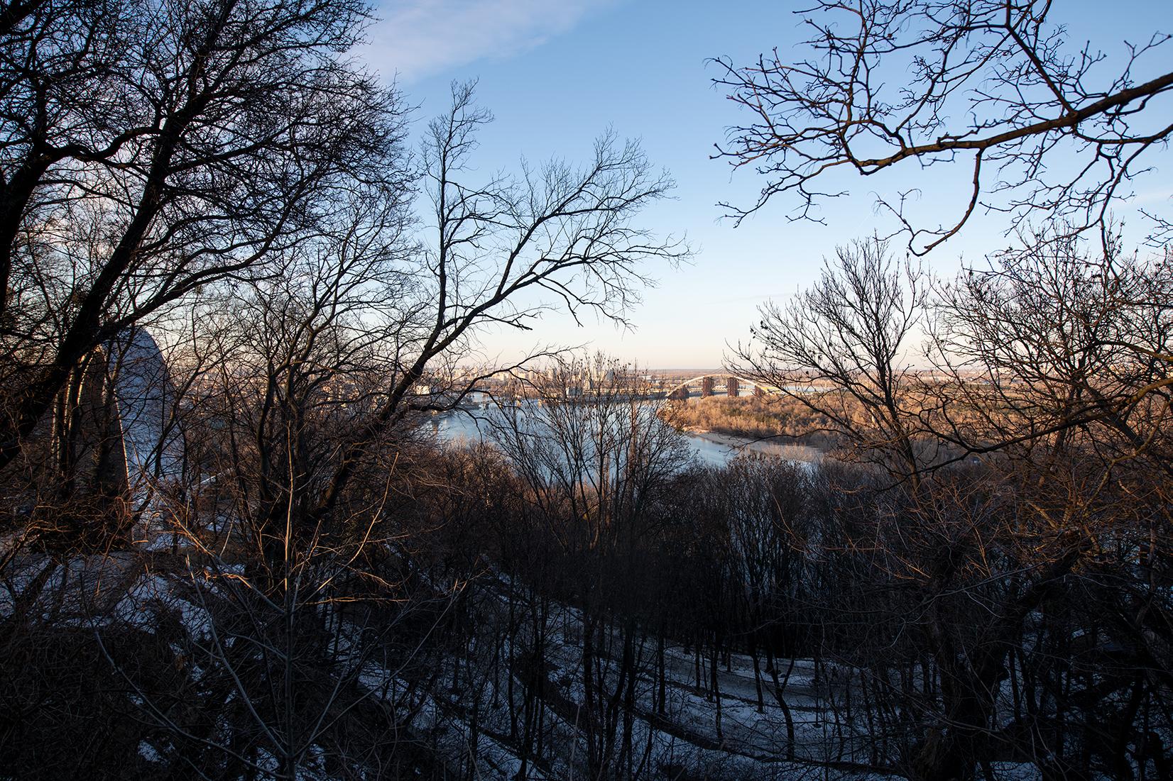 View on the Dnieper from Parkova Doroha