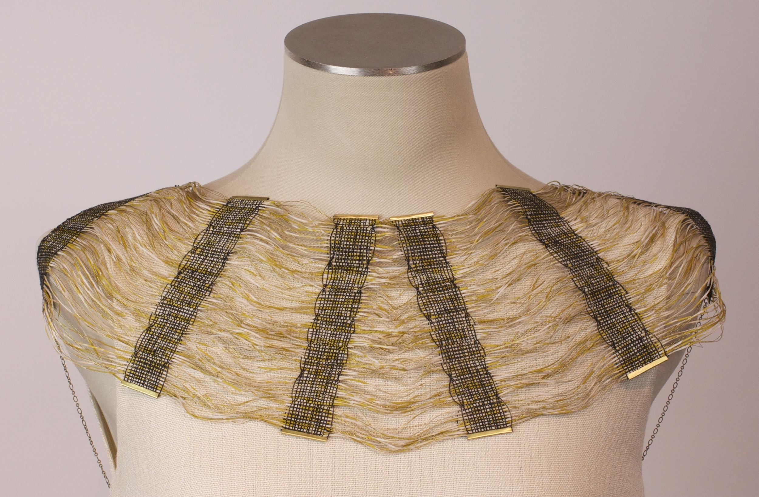 Hand woven collar by Haywood graduate Molly Erickson, 2014
