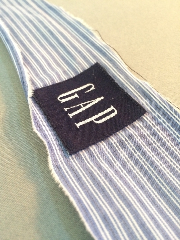 discarded cotton shirt collar from Goodwill bins