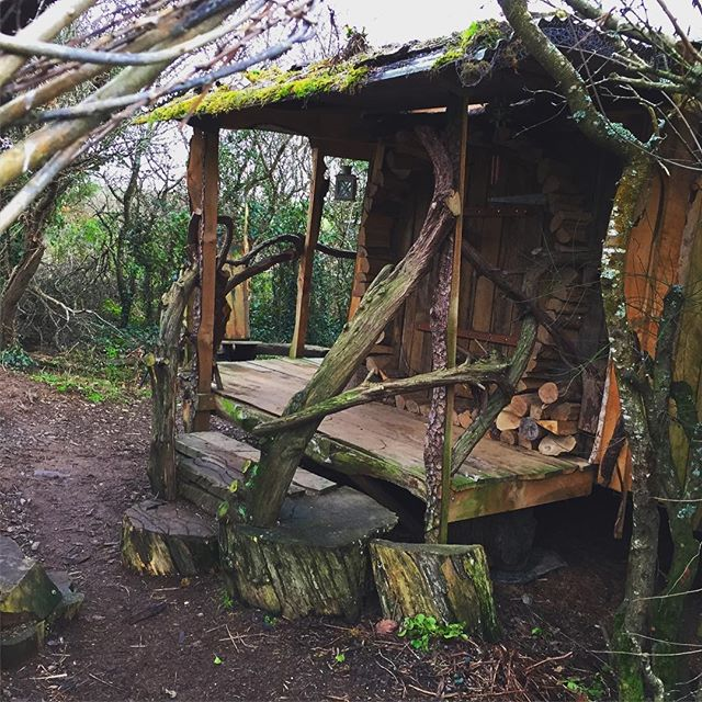 Our little off-grid hobbit house cabin getaway in Cornwall. #cabinporn