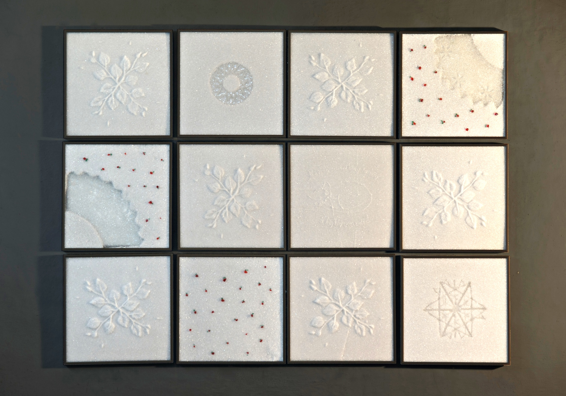 Glass Quilts. Quilt with Foxberries