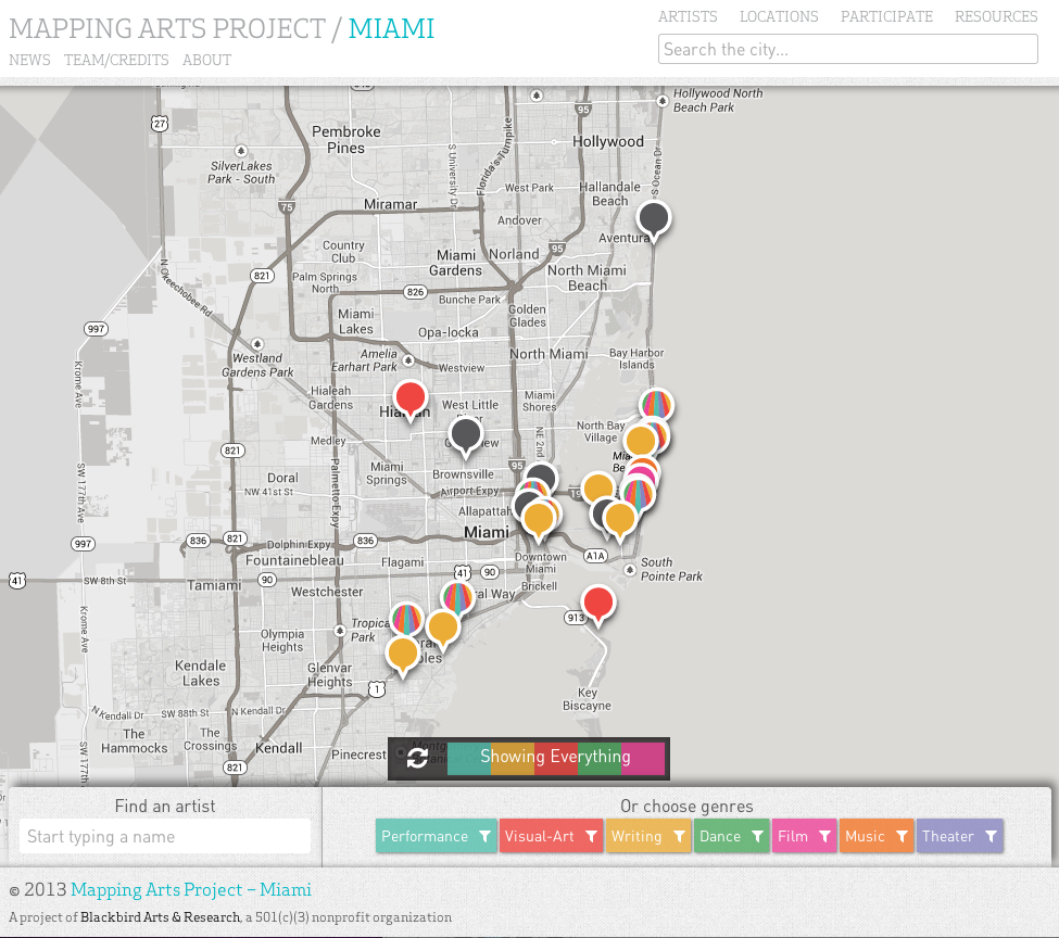 Mapping Arts-Miami