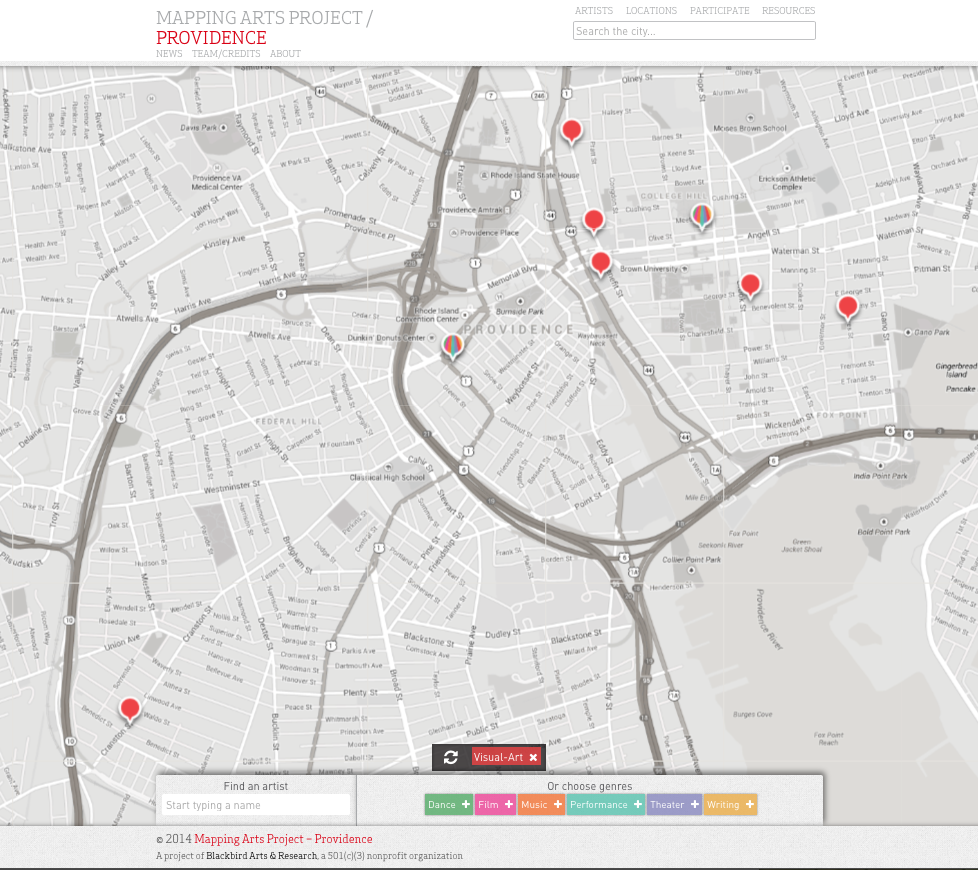 Mapping Arts-Providence
