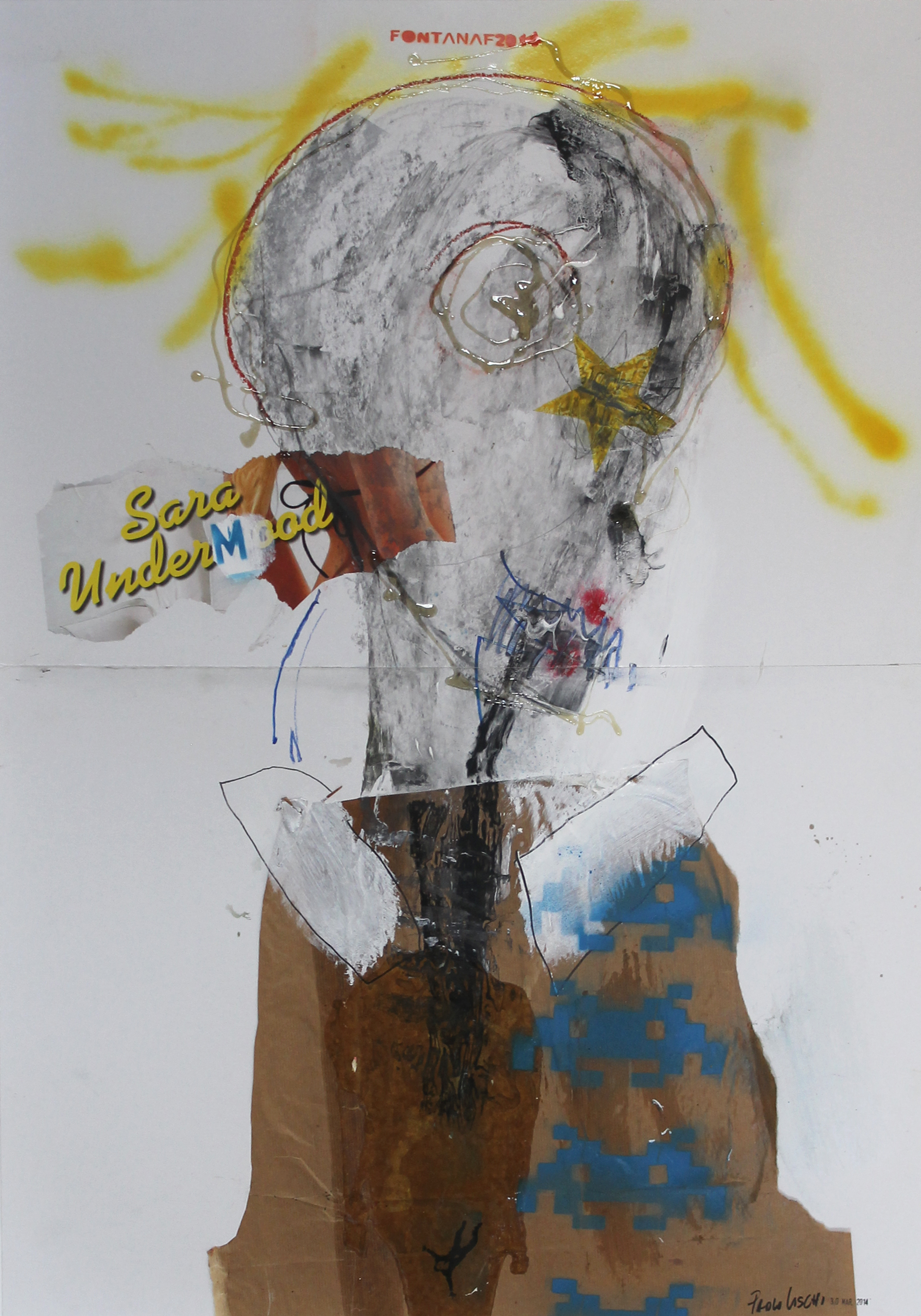SARA UNDERMOOD  IXED MEDIA ON PAPER - 70x100cm 2014